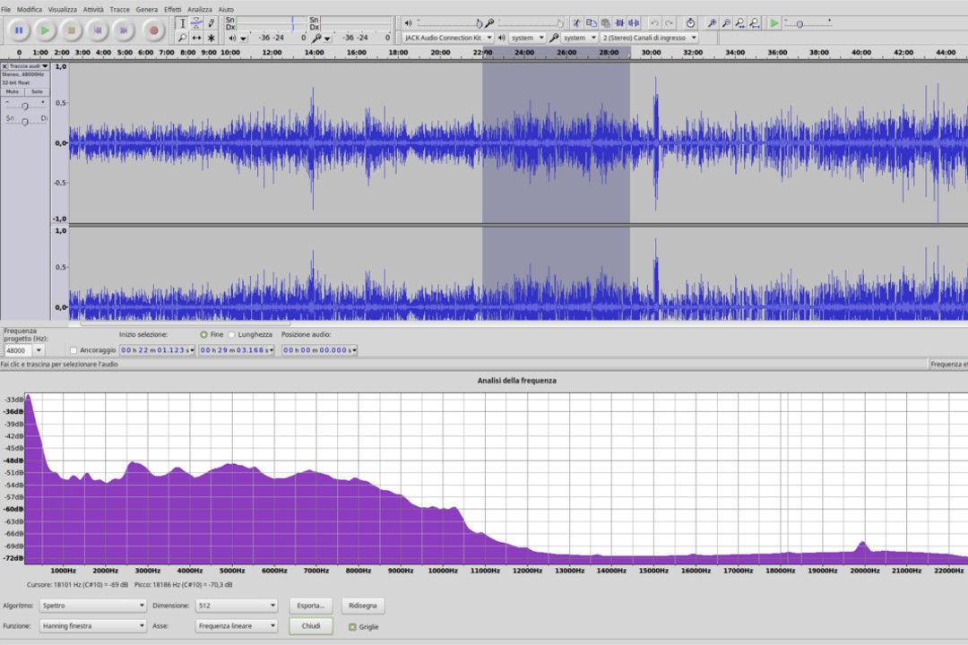 Sezione Audio